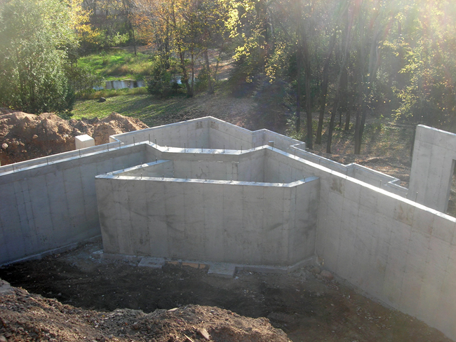 Cox concrete construction inc insulated concrete forms for Insulated concrete form construction